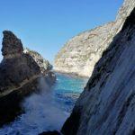 Ix-Xaqqa Routeneinstieg am Meer