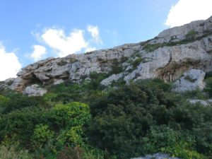 Crucifix Cave in Victoria Lines auf Malta