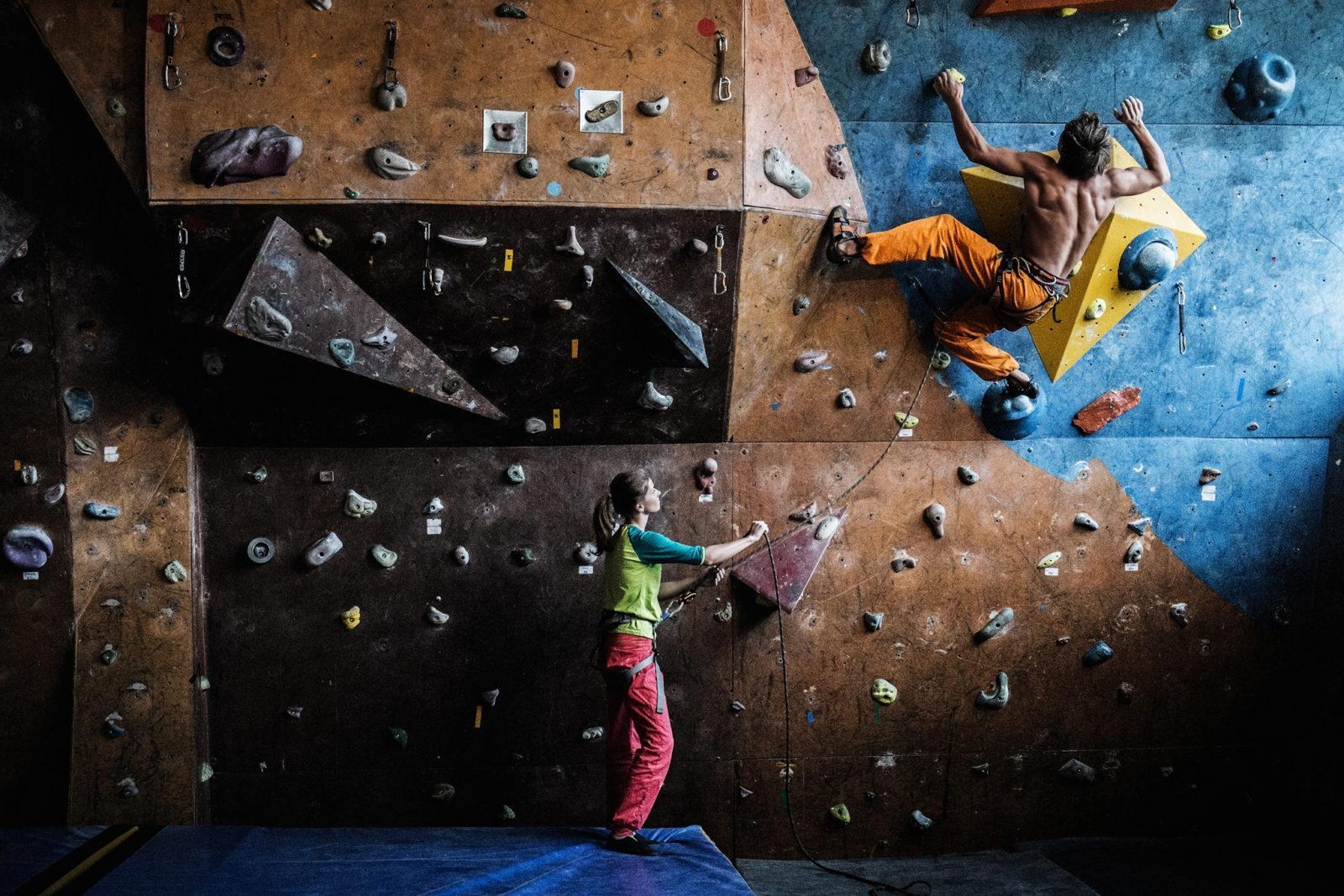 Sportklettern und Klettern in der Kletterhalle