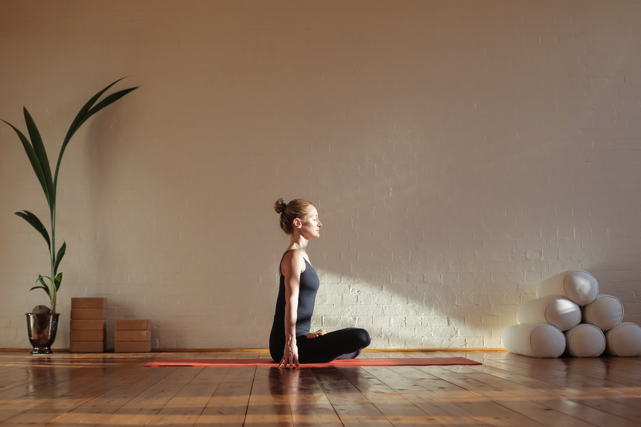 Yoga mit Yogamatte