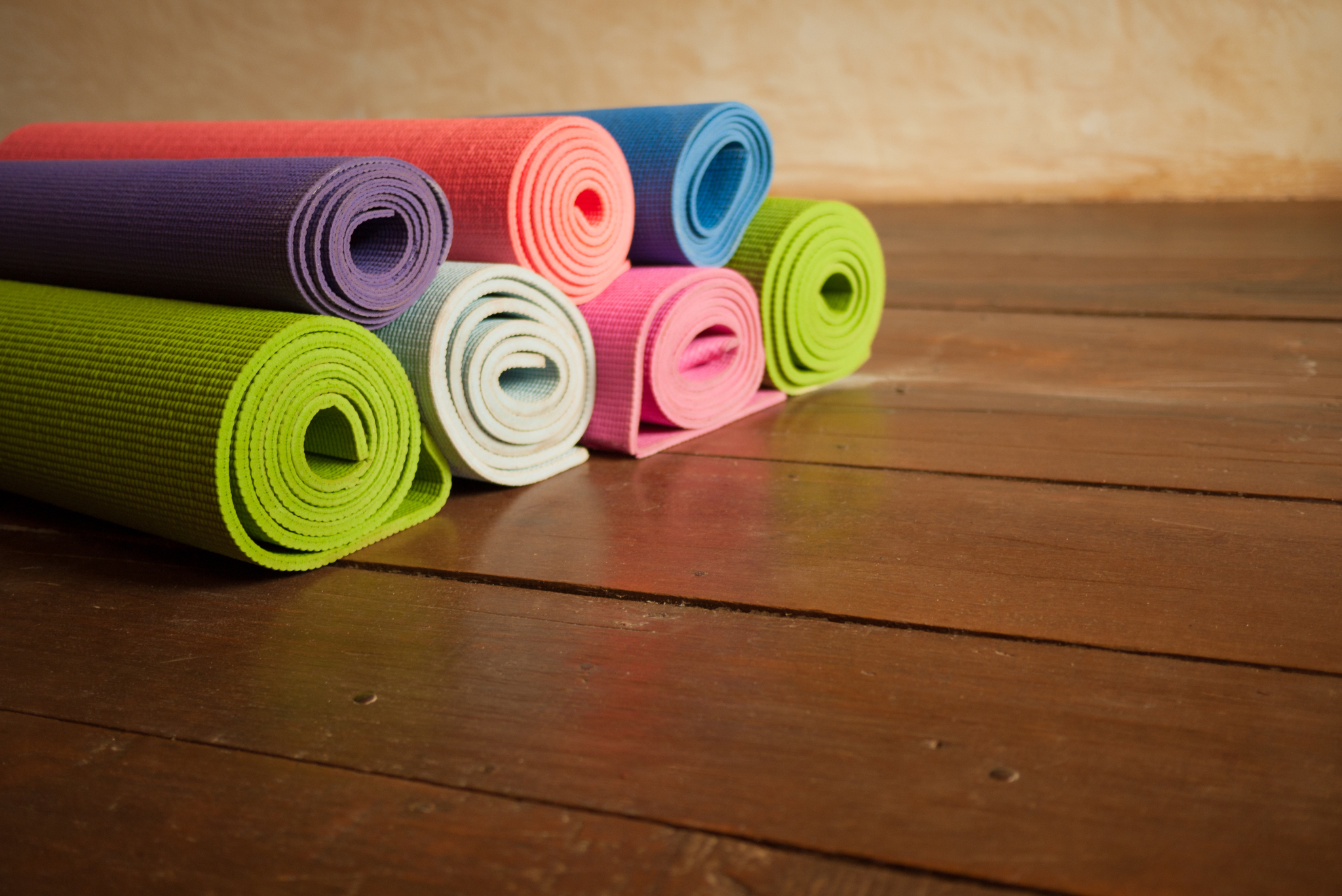Bunte Yogamatten