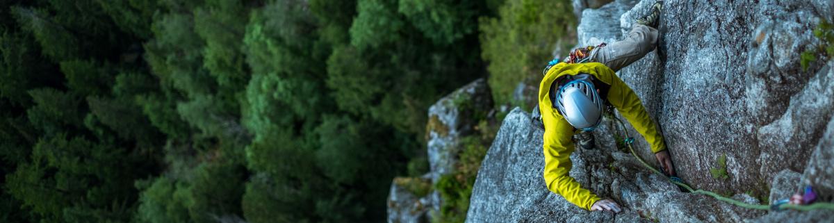 Knoten und Techniken Klettern