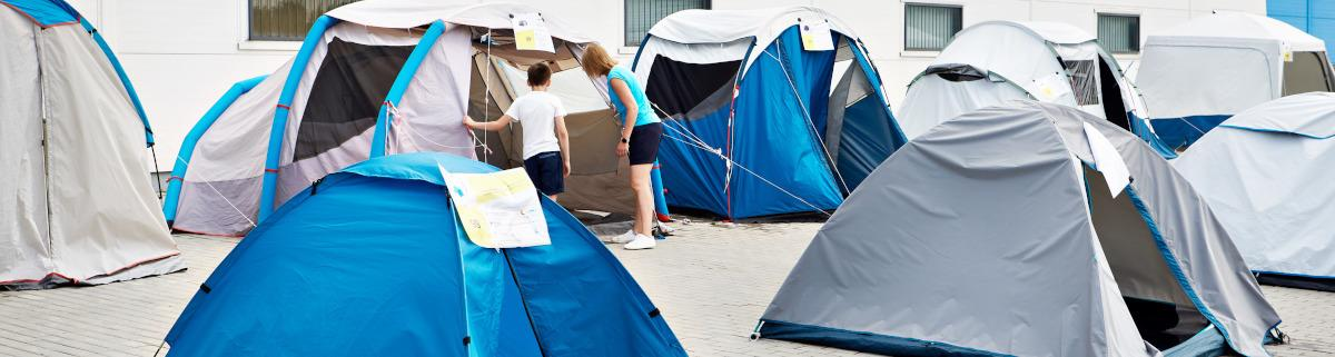 Einkauf von Campingausrüstung