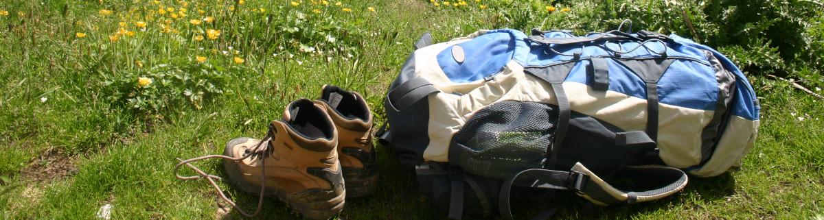 Ausrüstung zum Wandern