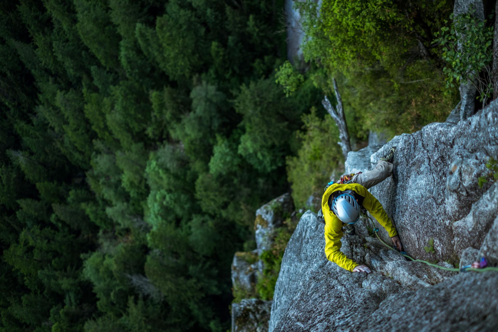 Klettern einer Mehrseillänge