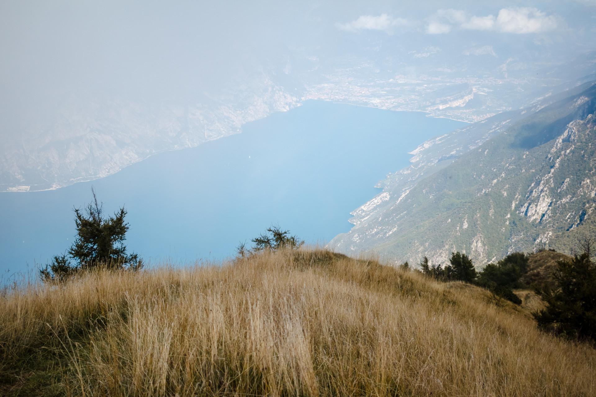 Blick beim Camping am Gardasee