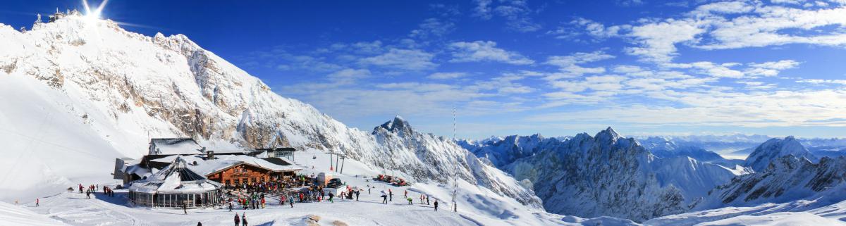 Wandern Zugspitze bei Schnee