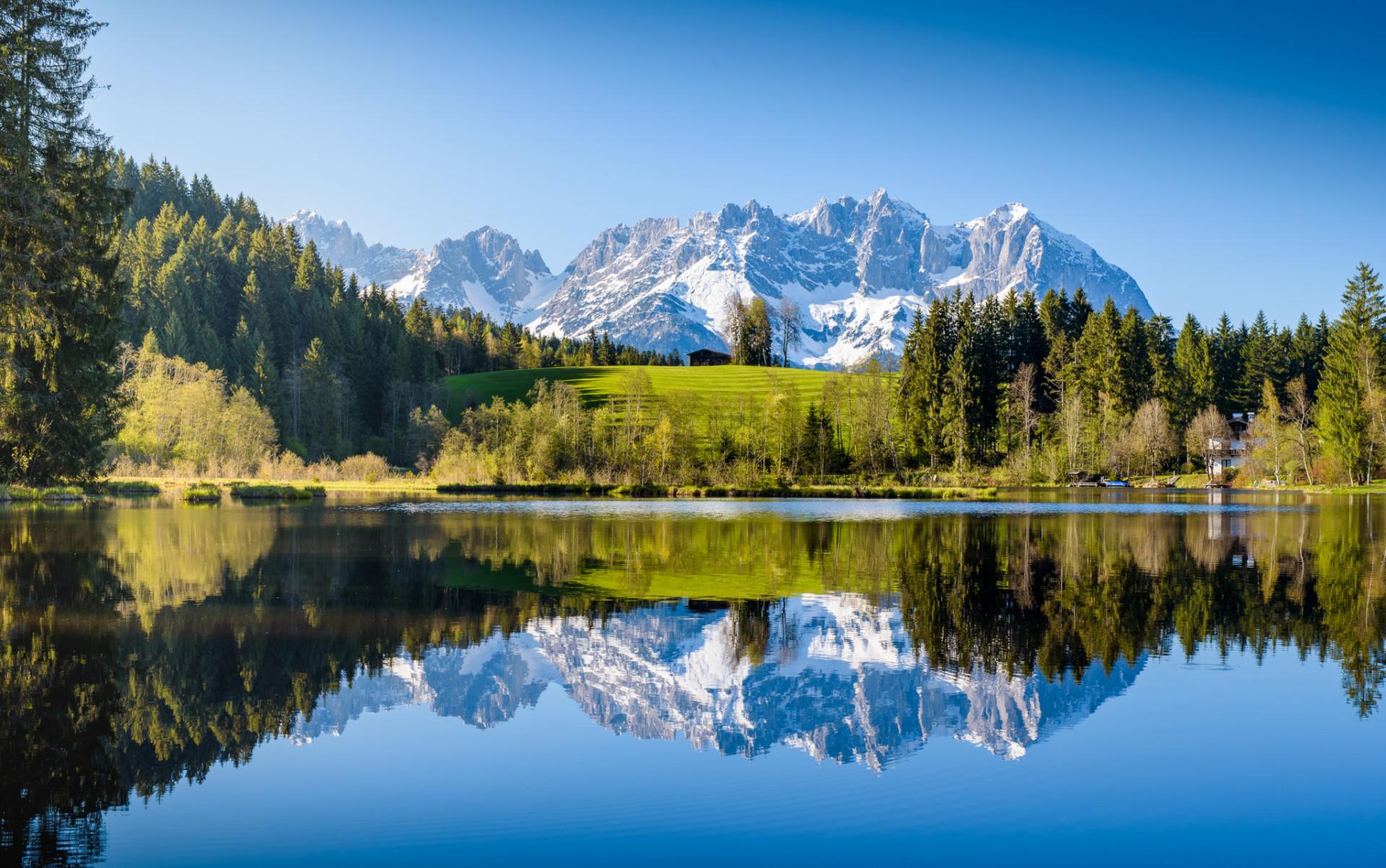 Alpenkulisse beim Camping in Österreich