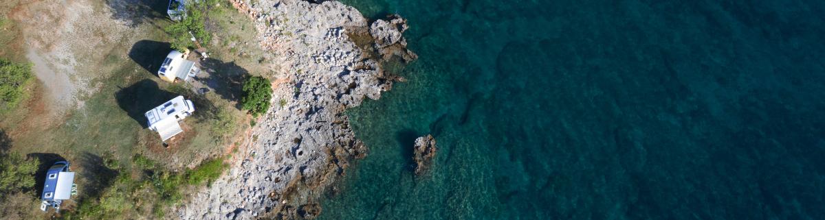 Camping in Kroatien am Meer