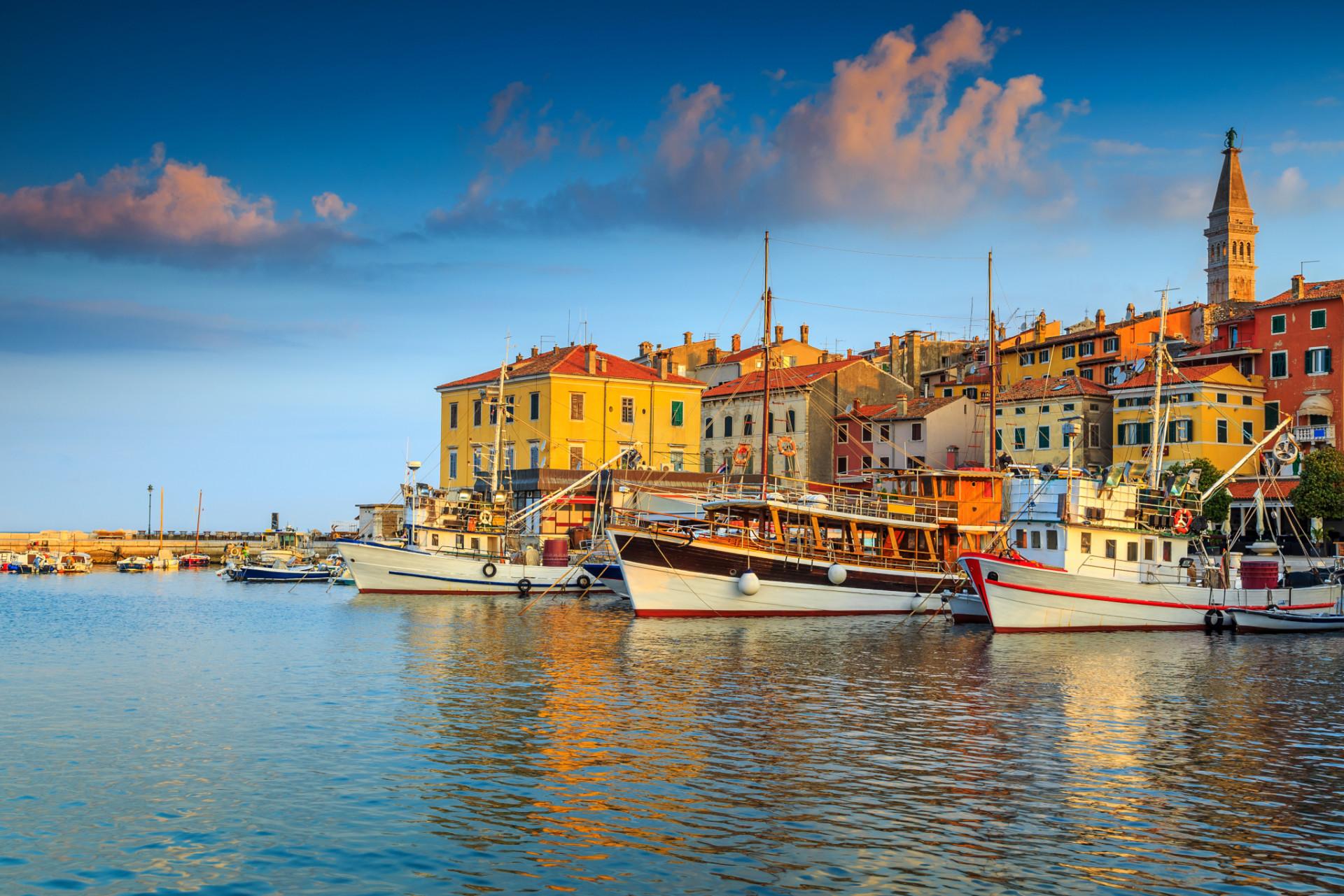Hafen von Rovinj in Istrien