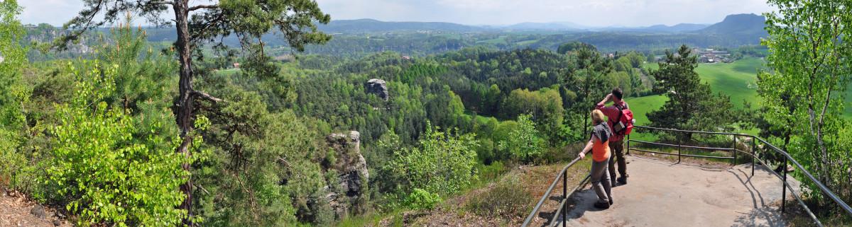 Sächsische Schweiz Wandern Aussicht