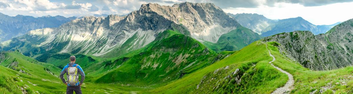 Wandern im Allgäu in den Bergen