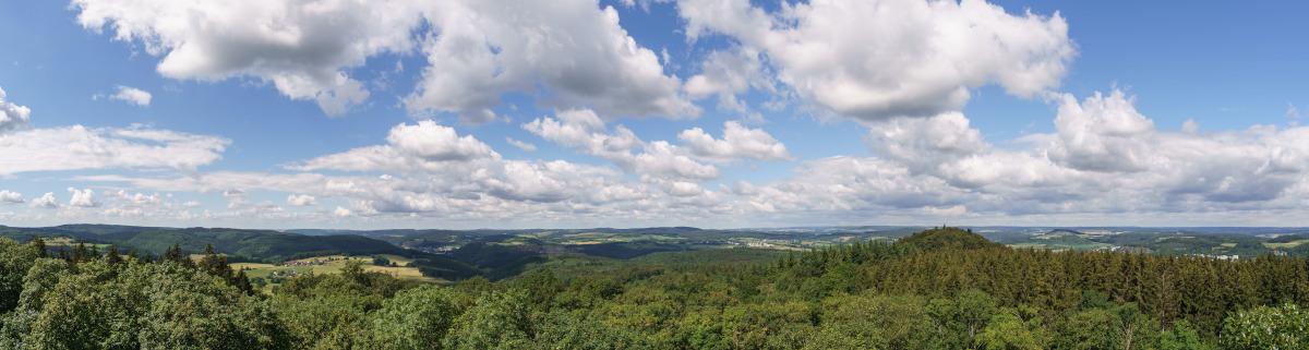 Wandern in der Eifel Aussicht