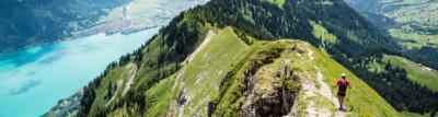 Wandern in der Schweiz auf Berg