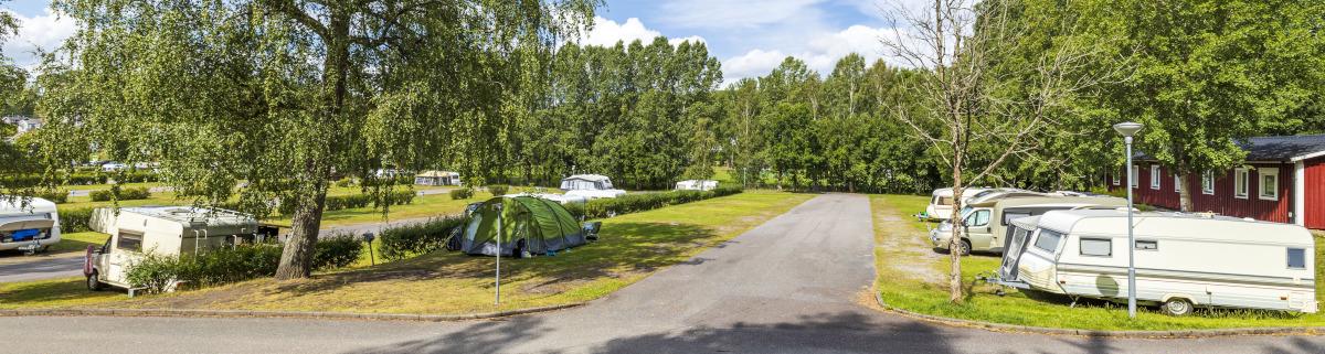 Campingplatz beim Camping in Schweden