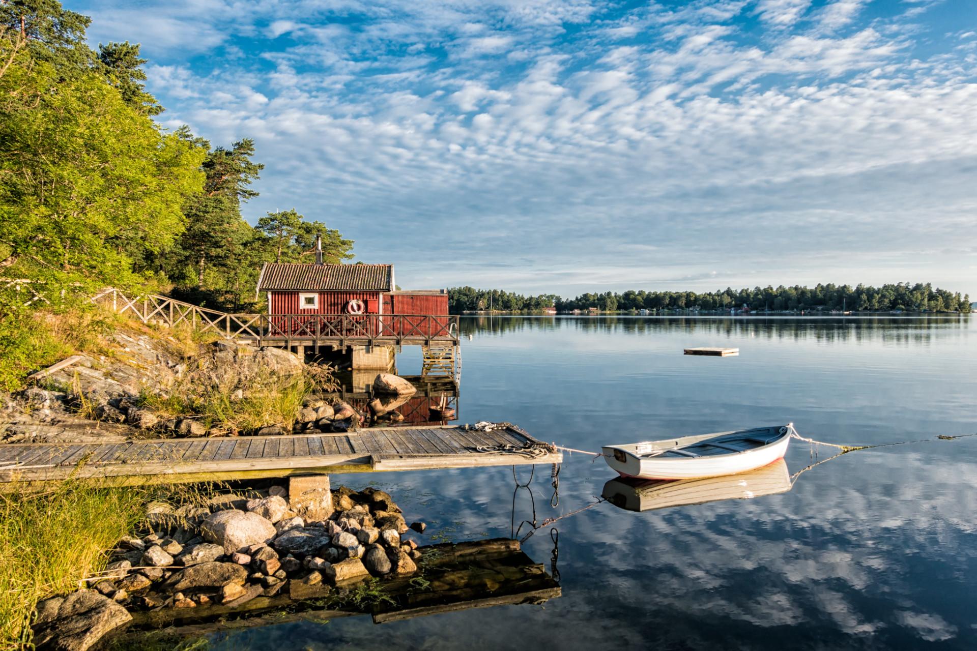 Schären an der schwedischen Küste beim Camping in Schweden