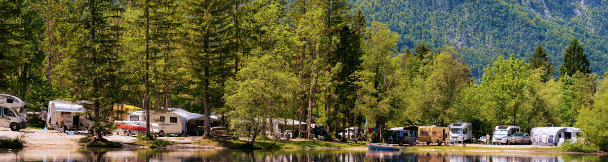 Camping in Slowenien nahe des Bohinjer Sees