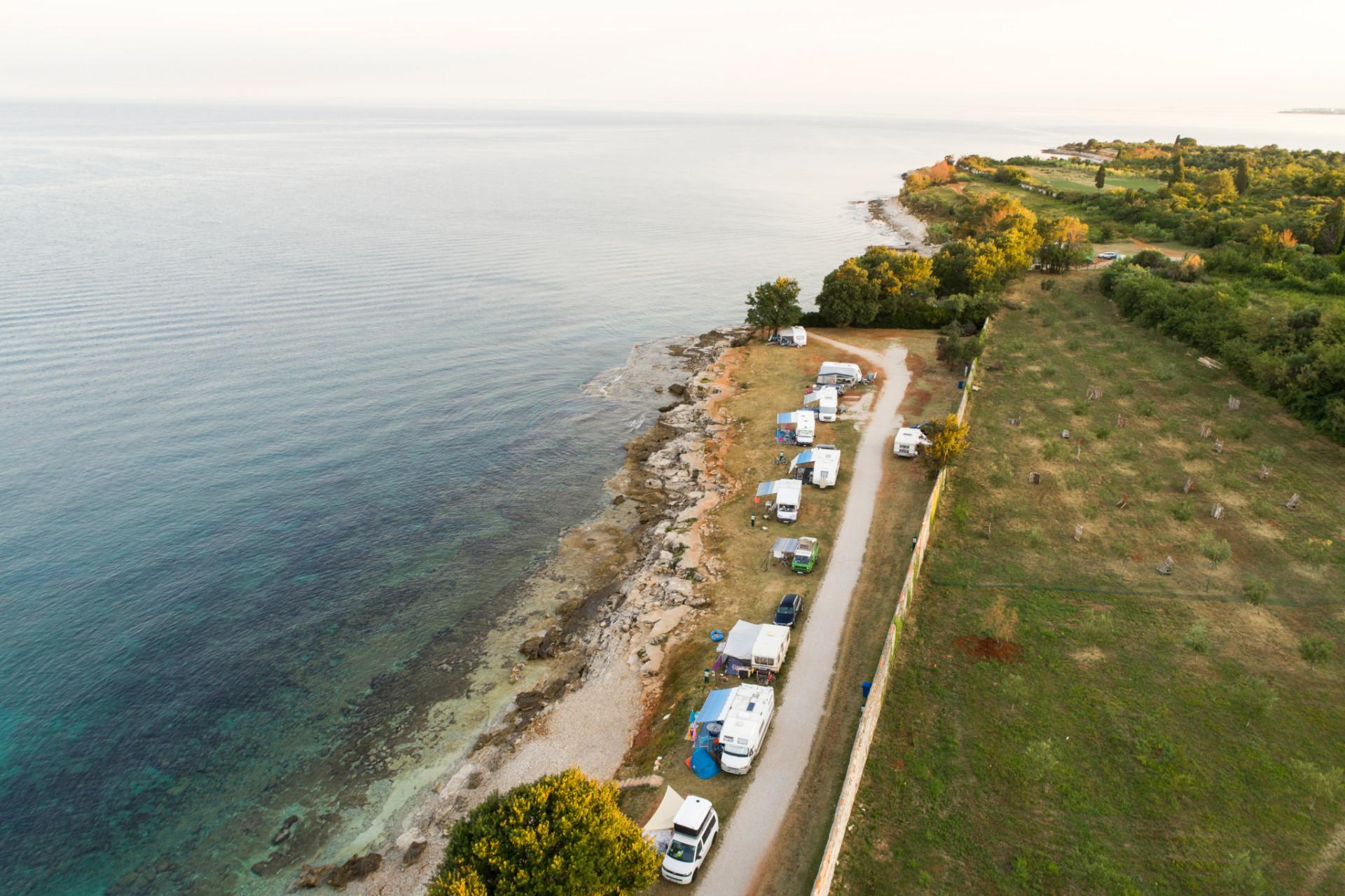Campingplatz nahe Novigrad in Istrien