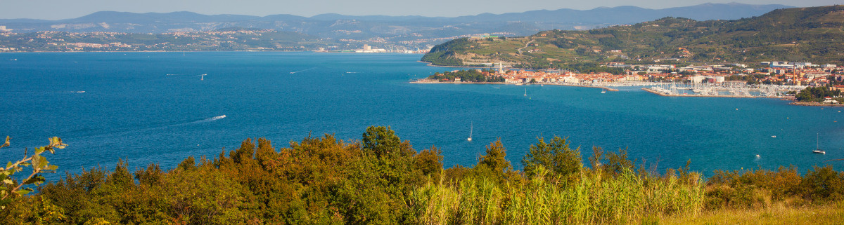 Küste von Izola in der Adria beim Camping in Slowenien