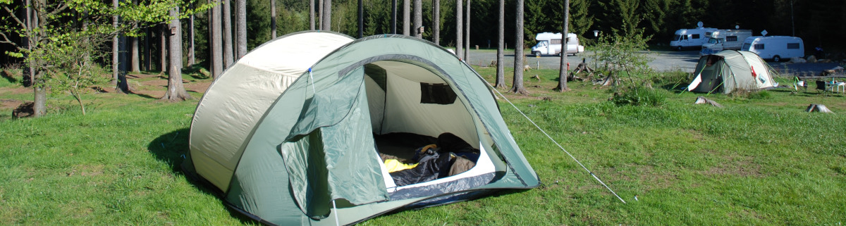 Camping im Harz im Wald