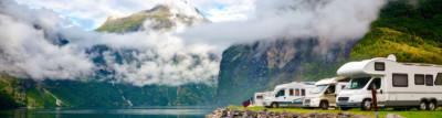 Camping in Norwegen mit Wohnmobil am Fjord