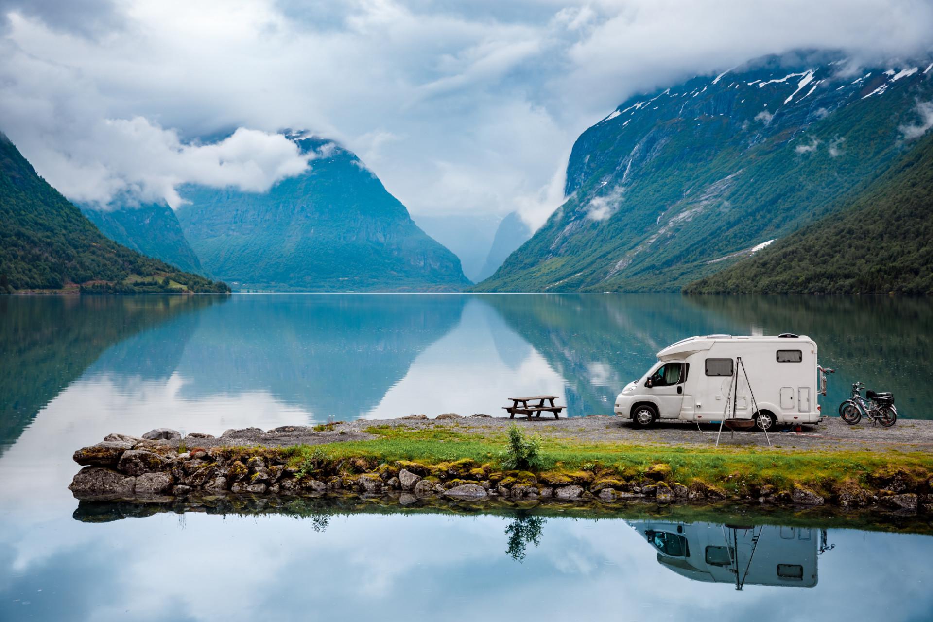 Camping in Norwegen am Fjord
