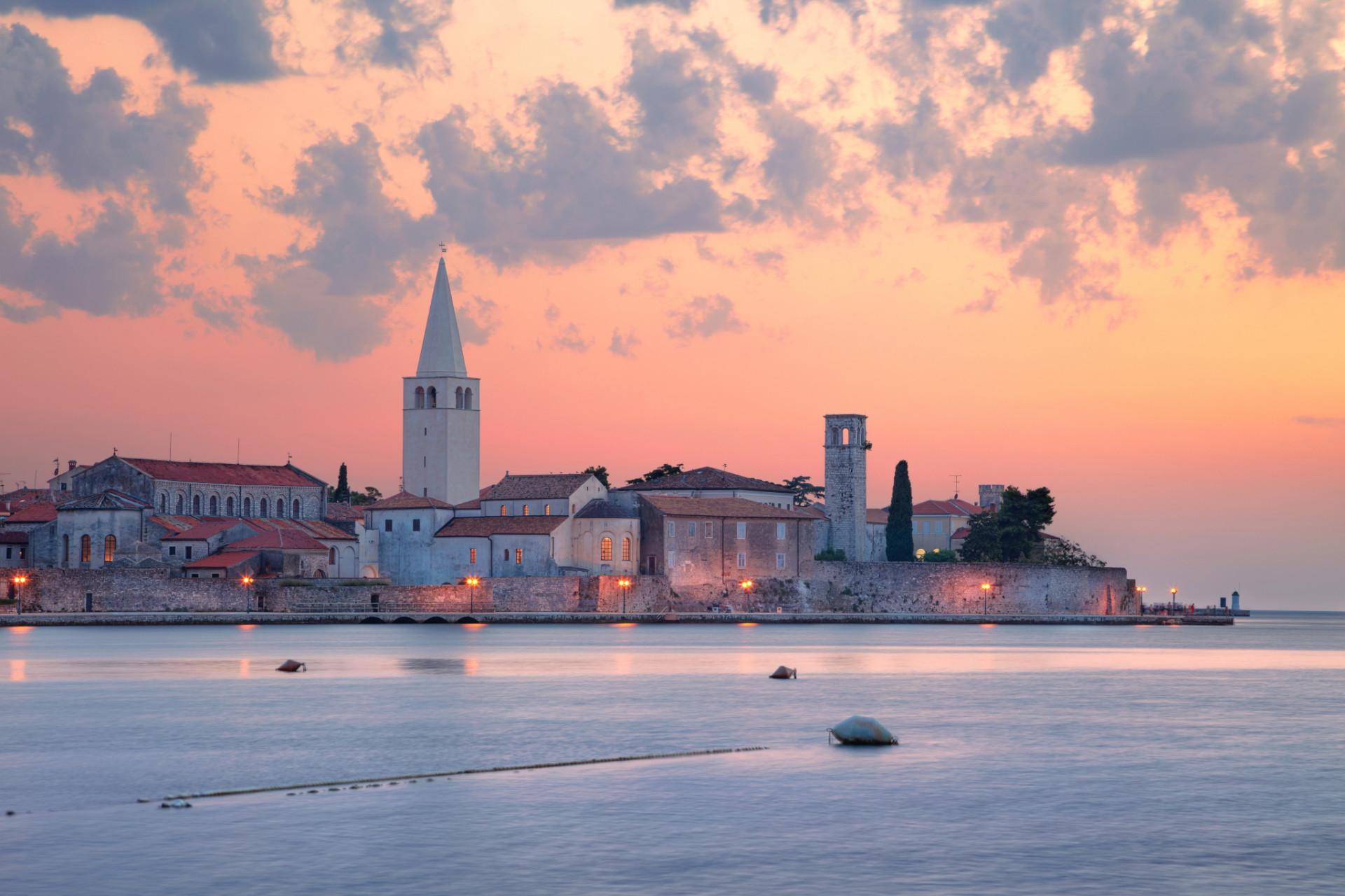 Porec, Kroatien beim Camping in Lanterna.